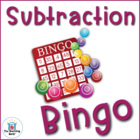 Subtraction Bingo Math Game Covers Facts 1-10~ Common Core