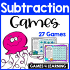 Subtraction Board Games With Sea Friends