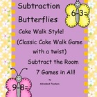 Subtraction Butterflies within 10 Cake Walk Style Write th