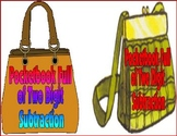 Subtraction Center: Pocketbook Full of Two-Digit Subtraction