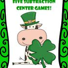 Subtraction Centers for St. Patrick's - Five Different Strategies