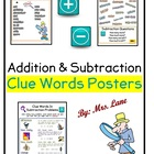 Subtraction Clue Words Poster!