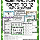 Subtraction Facts Math Activities