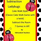 Subtraction Ladybugs within 10 Cake Walk Style Write the r