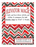Subtraction Math & ELA Activity & Station: Elevator Magic