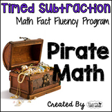"Subtraction Math Facts Timed Tests-""Pirate Math"""