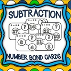 Subtraction Number Bond Flash Cards
