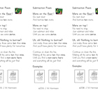 Subtraction Poem Bookmarks ~ Steps for Regrouping