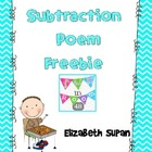 Subtraction Poem Freebie