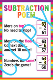 Subtraction Poster - 24x36 Elementary Math
