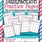Subtraction Practice Pages {Differences 0 to 10}