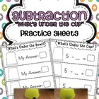 Subtraction Practice Sheets {What's Under the Cup?}