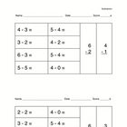 Subtraction Practice for Early Primary students