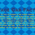 Subtraction Race Car Facts