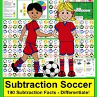 Subtraction Soccer Math Centers - 3 Ways to Play