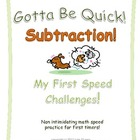 Subtraction Speed Tests for Kindergarten and First Grade!