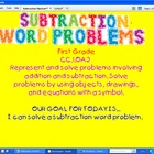 Subtraction Word Problem Flipchart