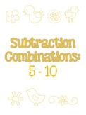Subtraction on a Number Line - differentiated