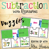 Subtraction with Regrouping Puzzles