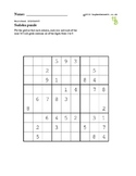 Sudoku puzzles - 50 worksheets - Pack 1