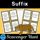 Suffix Scavenger Hunt with Free Suffix Poster