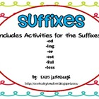 Suffixes- Word Work with ed, ing, er, est, ful, and less