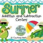 Summer Addition and Subtraction Centers