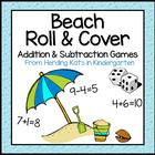 Summer Beach Themed Roll & Cover Addition & Subtraction Games!
