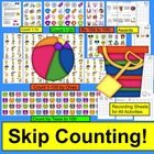 Summer Counting and Skip Counting Math Centers Activities