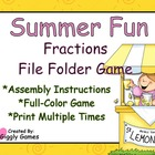 Summer Fun Fractions File Folder Game