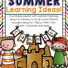 Summer Fun Idea Packet