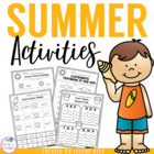 Summer Fun Printables for Young Learners
