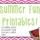 Summer Fun Printables!