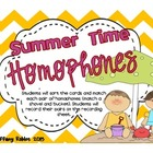 Summer Homophones Freebie