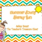 Summer  Literacy Center Packet (8 Centers)