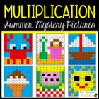 Summer Math - Multiplication Mystery Pictures
