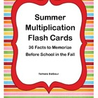 Summer Multiplication Flashcards