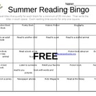 Summer Reading Bingo Card