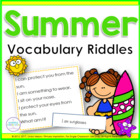 Summer Riddles: 24 Riddle Cards for Vocabulary and Inference
