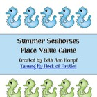 Summer Seahorses Place Value Game