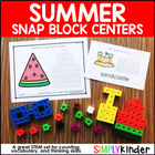 Summer Snap Cube Center {Counting Center}