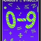 Numbers and Math Symbols Clipart - Colorful Stripes