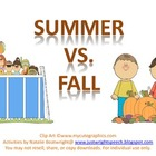 Summer VS Fall - Freebie