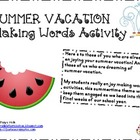 Summer Vacation Making Words Activity {FREEBIE!}