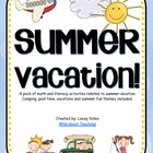 Summer Vacation-Math and Literacy
