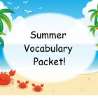 Summer Vocabulary Packet