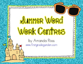Summer Word Work Centres