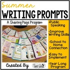 Summer Writing Pages for Class Share Time {June, July, August}