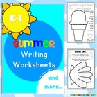 Summer Writing Worksheets K-1 - 73 pages