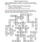 Summer of the Monkeys: Figurative Language Crossword--Fun!
